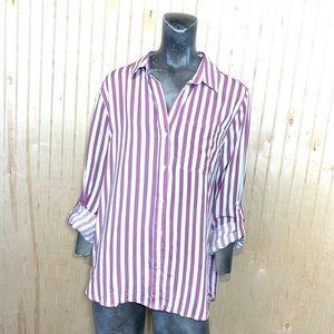 Velvet Heart Large Striped Button Down Shirt
